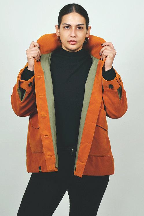 Jacket velvet cotton orange EME Clothing in Berlin