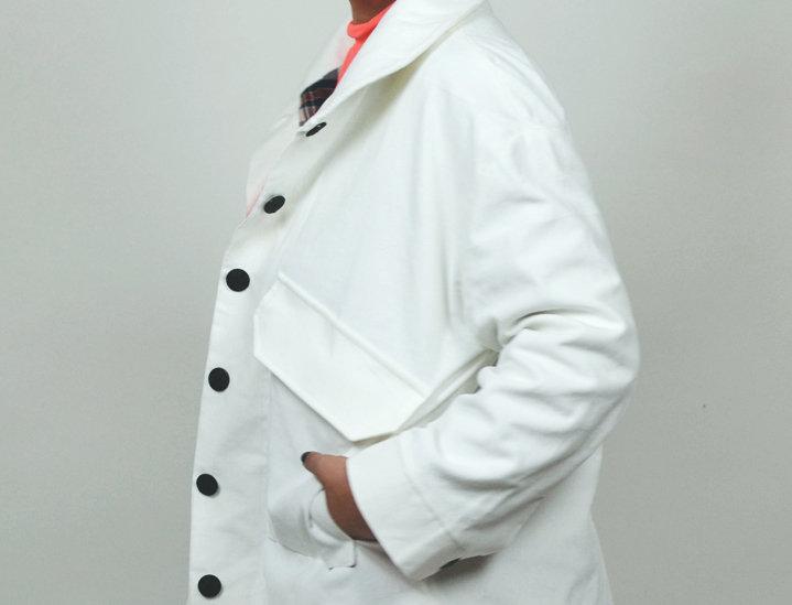 Jacket corduroy white