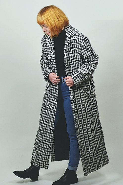 Coat houndstooth