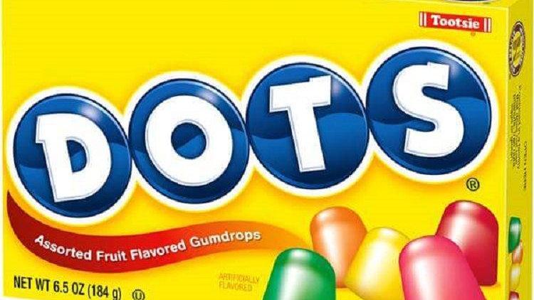 Tootsie Dots Assorted Fruit-Flavored Gumdrops, 6.5-oz. Box