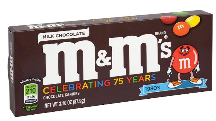 M&M's Chocolate Candy, 3.10-oz. Box