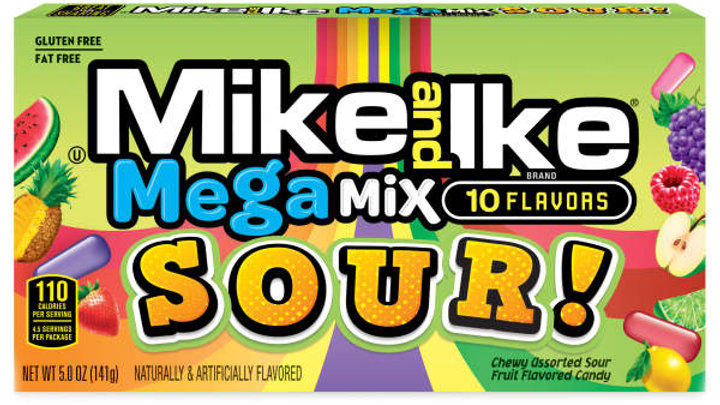Mike and Ike Mega Mix sour Candies, 5 oz. Box