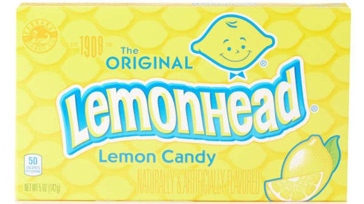 The Original Lemonhead Lemon Candy Theater Boxes, 5 oz.