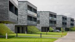 Fotografia nieruchomości wnętrza nowoczesne osiedle wykonana przez Rek House
