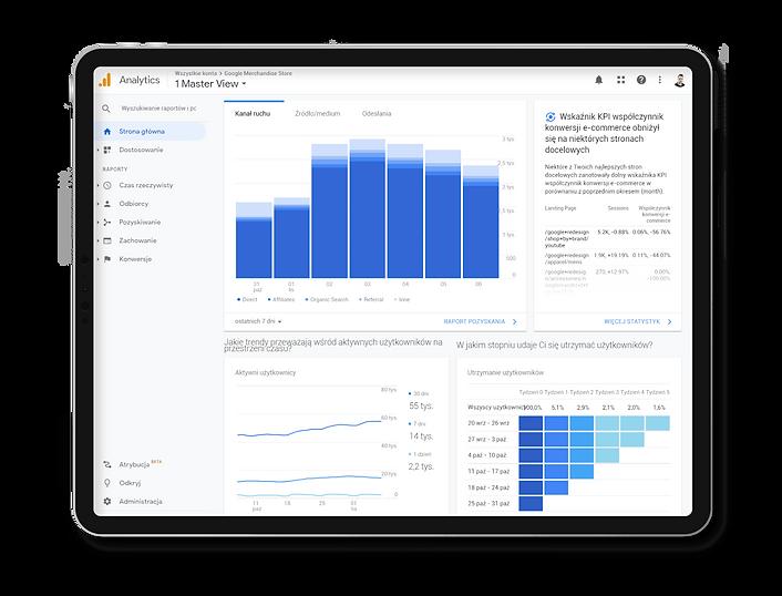 Pozycjonowanie stron i strategia Google analytics Rek House.