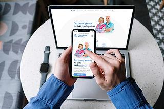 Strona internetowa Przychodni Powiśle na telefonie i laptopie. Współpraca z agencją marketingową Rek House