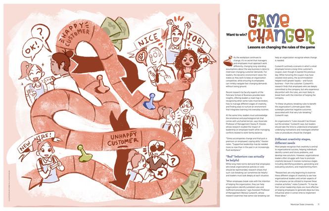 Feliciano Biz Magazine 2019 Article Illustration