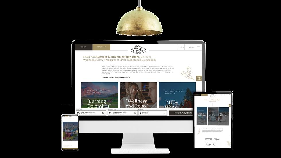 formatnull hotel tirler webdesign