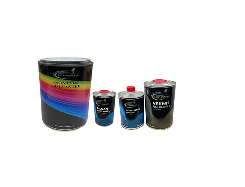 Kit peinture moto solvantée en pot avec diluant vernis et durcisseur