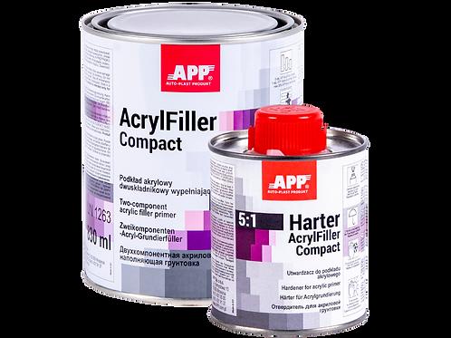 APPRÊT ACRYLIQUE BI-COMPOSANTS HS+DURCISSEUR ACRYFILLER COMPACT 5:1 + HARTER