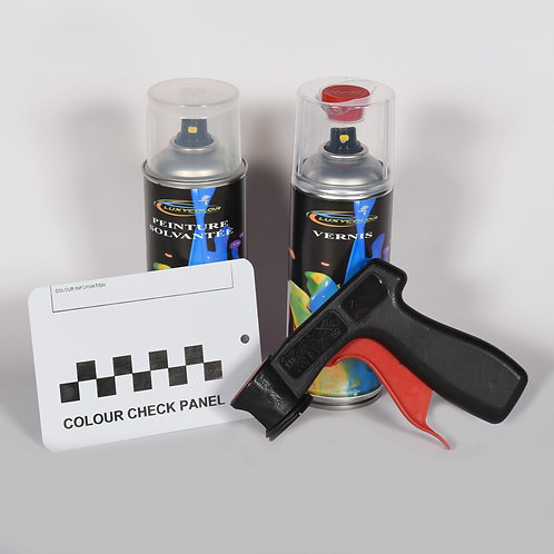 Kit bombe de peinture camion solvantée + vernis + poignée + plaquette test