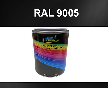 Peinture noir ultra brillant direct ral 9005