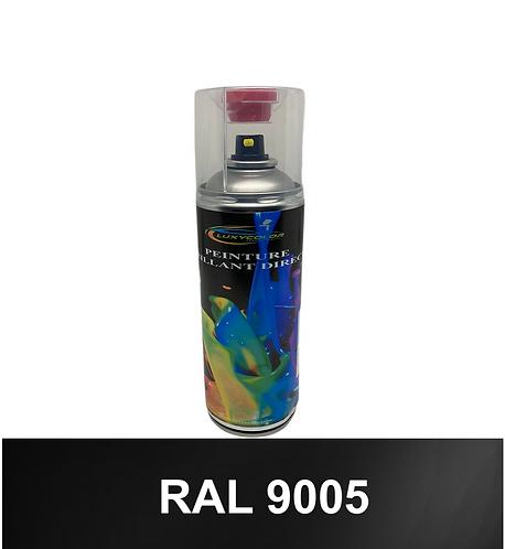 Bombe de peinture ral 9005 1K ou 2K + pistolet