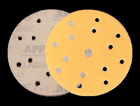 Disque abrasif 15 trous K555 jaune D150 par 10 pcs
