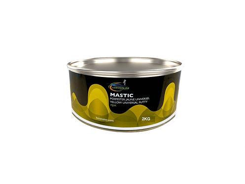 Mastic jaune 2kg universel Luxycolor +durcisseur