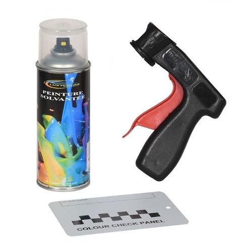 Bombe de peinture voiture solvantée 400ml+poignée+plaquette test