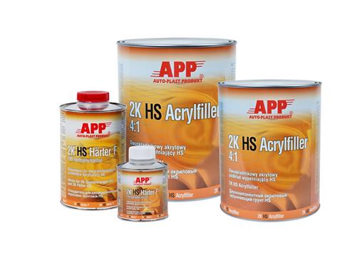 APPRÊT ACRYLIQUE BI-COMPOSANTS HS 1L +DURCISSEUR 4:1 HS ACRYLFILLER 0,25L