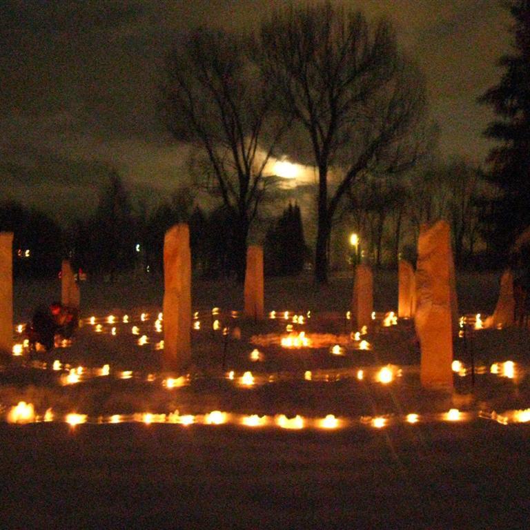 Lichtfest in der Geopunktur im Kerzenschein