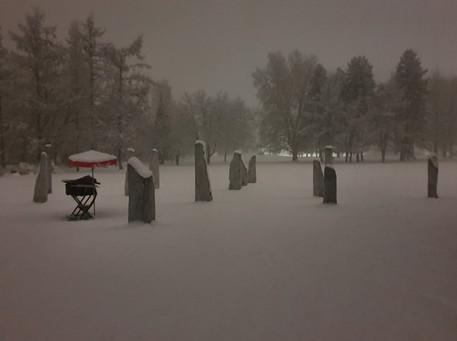 Zum 13.12. Schnee! Lichtfest
