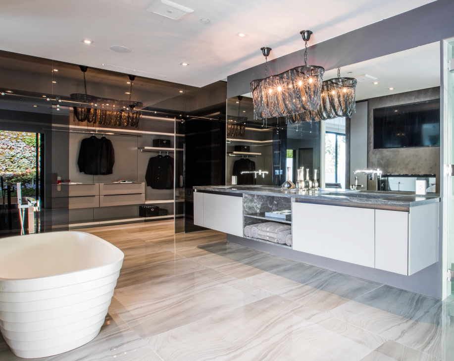 Luxury bathroom and closet