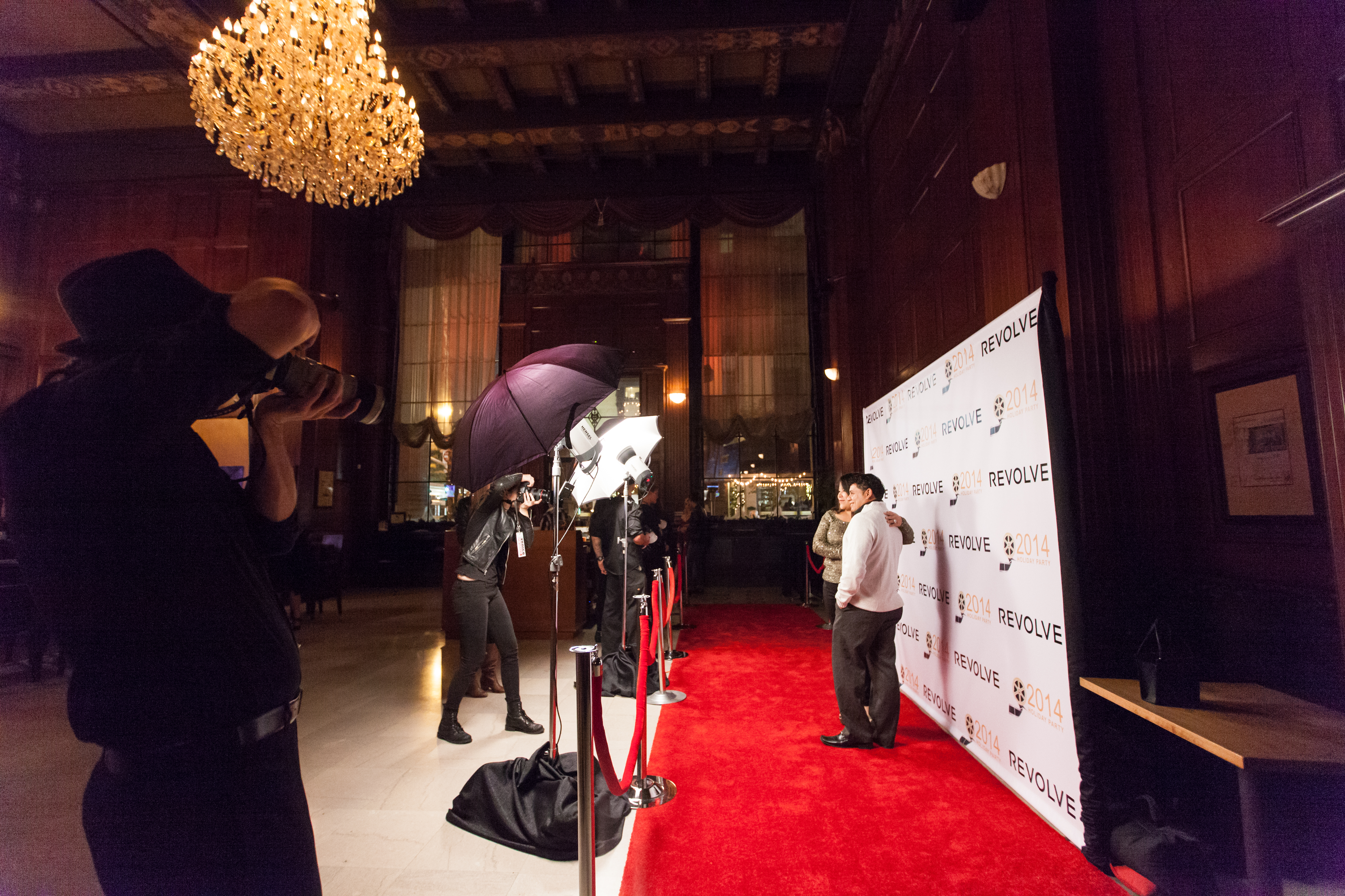 Fun Paparazzi and red carpet set up