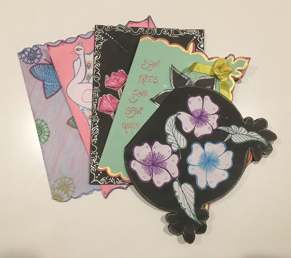 The lovely girls at the Veerni Institute made beautiful cards for the holiday season!