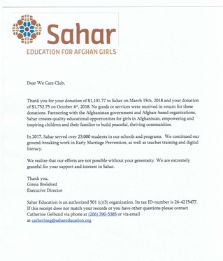 Nearly $3000 dollars for Sahar's deigital literacy program!
