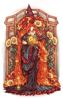 Autumn Witch & Ferret Familiar