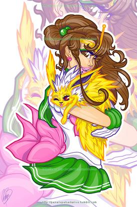 Sailor Jupiter & Jolteon