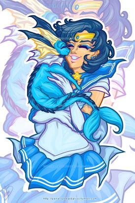 Sailor Mercury & Vaporeon