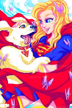 SuperGirl & Krypto