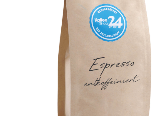 Espresso entkoffeiniert Bohnen