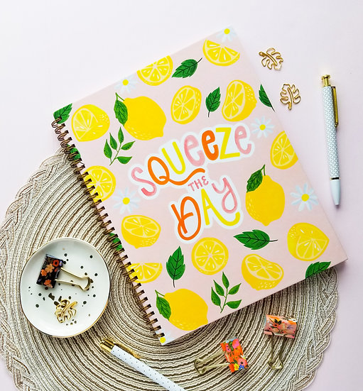 Hardcover Squeeze the Day Notebook