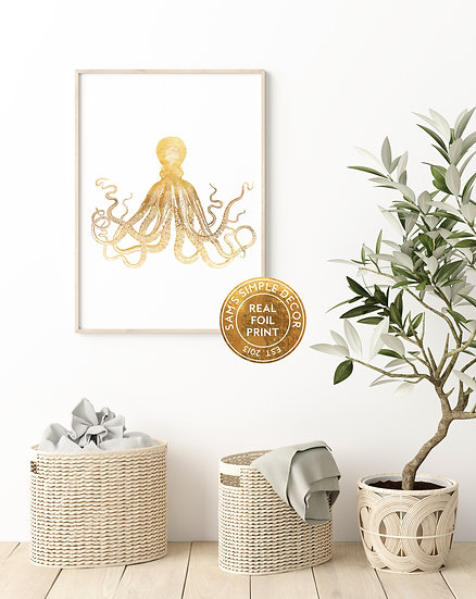 Octopus - Real Foil Print