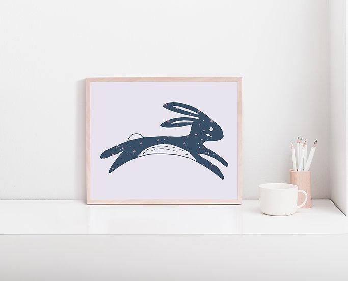 Floral Bunny Digital Print