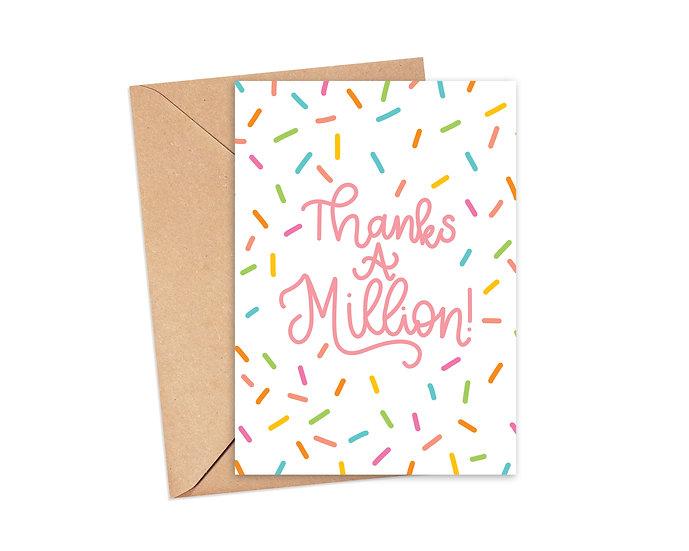 Thanks a Million Sprinkles Greeting Card