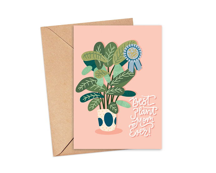 Best Plant Mom Ever Greeting Card