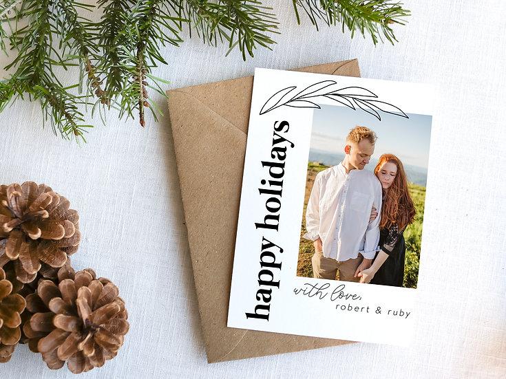 Minimal Black and White Christmas Card