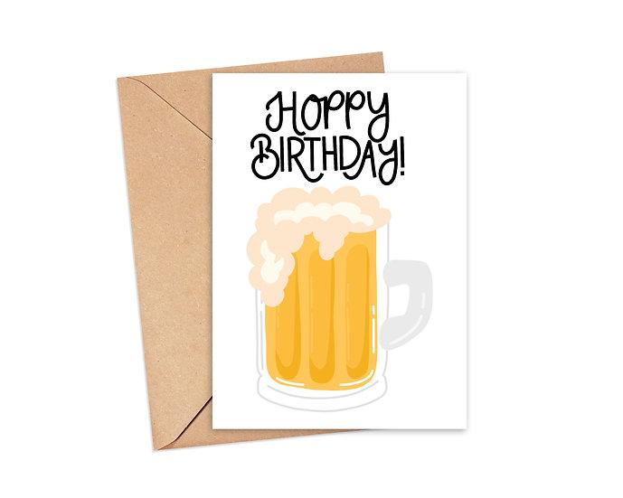 Hoppy Birthday - Funny Birthday Greeting Card