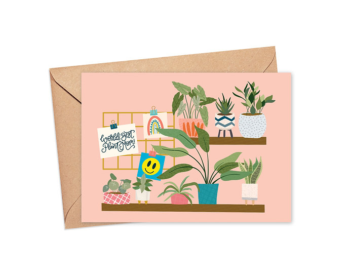World's Best Plant Mom Greeting Card
