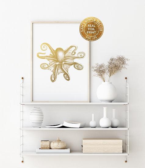 Octopus - Real Foil Print