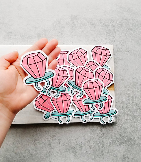 Diamond Lollipop - 90's Sticker