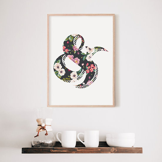 Floral Ampersand Digital Print