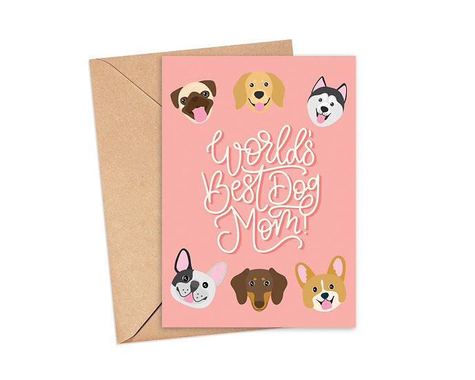 World's Best Dog Mom Greeting Card