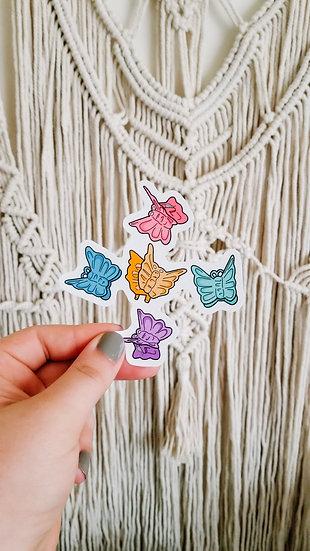 Butterfly Hair Clips - 90's Sticker