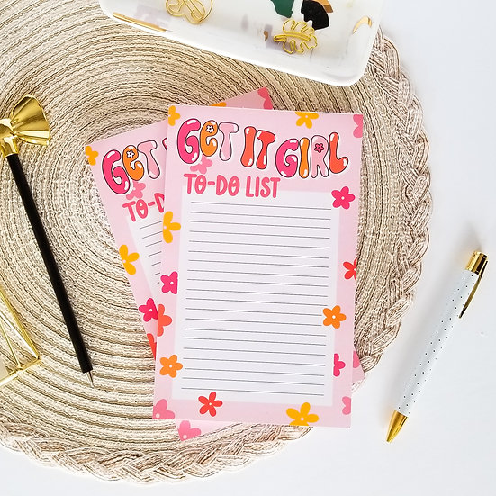 Get it Girl To-Do List Notepad