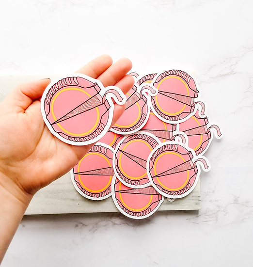 Pink Tape Gum - 90's Sticker