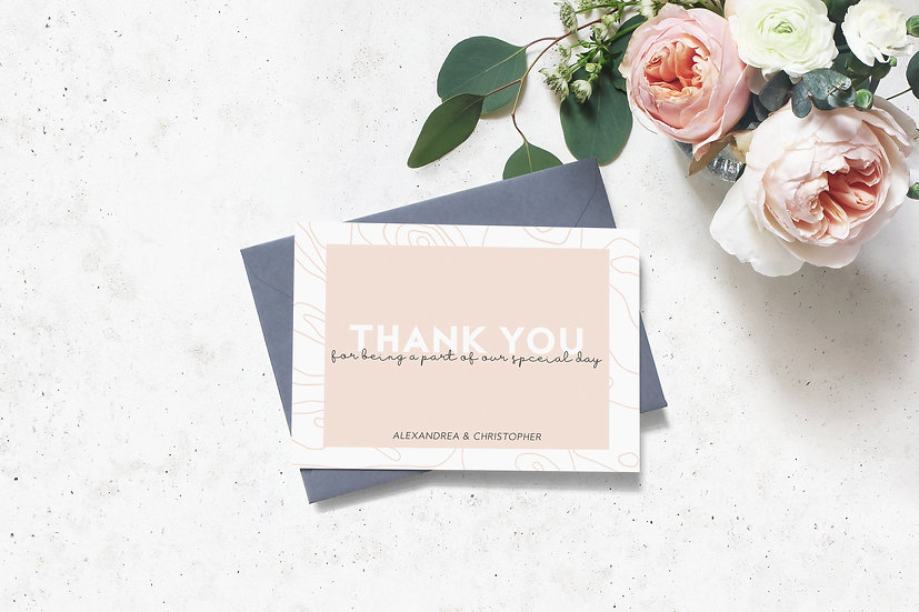 Topography Wedding Thank You Cards