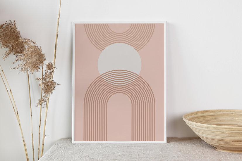 Geometric Mid Century Modern Digital Print