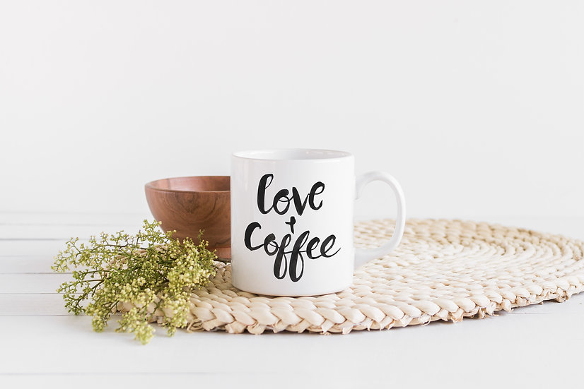 Love and Coffee - 11oz Ceramic Coffee Mug
